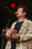 Johnny Clegg performing on stage Royalty Free Stock Photos