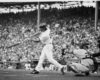Johnny Damon, Boston Red Sox. Boston Red Sox centerfielder Johnny Damon. Image taken from b&w negative Royalty Free Stock Photography