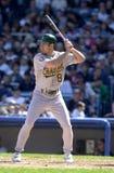 Johnny Damon. Oakland Athletics OF Johnny Damon. (Image taken from color slide Royalty Free Stock Images
