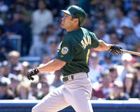 Johnny Damon. Oakland Athletics OF Johnny Damon. (Image taken from color slide Stock Images
