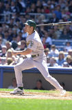 Johnny Damon. Oakland Athletics outfielder Johnny Damon. (Image taken from color slide Royalty Free Stock Photos