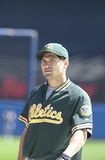 Johnny Damon. Oakland Athletics outfielder Johnny Damon. (Image taken from color slide Royalty Free Stock Images