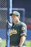Johnny Damon. Oakland Athletics outfielder Johnny Damon. (Image taken from color slide Stock Images