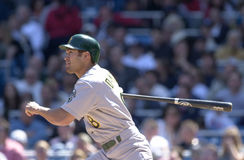 Johnny Damon. Oakland Athletics outfielder Johnny Damon. (Image taken from color slide Royalty Free Stock Photography