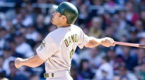 Johnny Damon. Oakland Athletics outfielder Johnny Damon.  Image taken from color slide Stock Photo