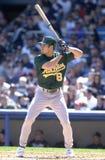 Johnny Damon. Oakland Athletics star Johnny Damon. (Image taken from color slide Royalty Free Stock Photo