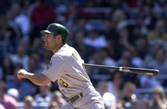 Johnny Damon Oakland A's royalty-vrije stock foto