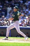 Johnny Damon Oakland A's stock afbeelding