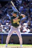 Johnny Damon Oakland A's royalty-vrije stock foto's