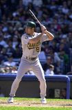 Johnny Damon Oakland A's royalty-vrije stock fotografie