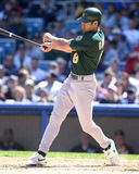 Johnny Damon. Outfielder for the Oakland Athletics. (Image taken from a color slide Stock Photo