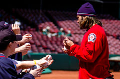 Johnny Damon podpisuje autografy Zdjęcia Royalty Free