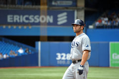 Johnny Damon of the Tampa Bay Rays Stock Images