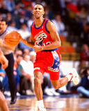 Johnny Dawkins. Philadelphia 76ers star Johnny Dawkins. Image taken from color slide Stock Photography