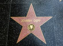 Johnny Deep`s Star, Hollywood Walk of Fame - August 11th, 2017 - Hollywood Boulevard, Los Angeles, California, CA Royalty Free Stock Photos