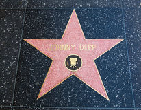 Johnny Depp. Walk of fame star theater Royalty Free Stock Image