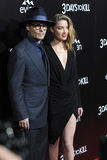 Johnny Depp & Amber Heard Royaltyfria Foton