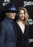 Johnny Depp & Amber Heard Stock Images