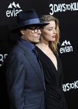 Johnny Depp & Amber Heard Royalty Free Stock Photo