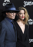 Johnny Depp & Amber Heard Stock Images