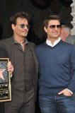 Johnny Depp et Tom Cruise photographie stock libre de droits