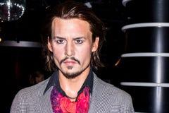 Johnny Depp - figura de cera fotografia de stock royalty free