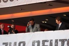 Johnny Depp, Jerry Bruckheimer - Eenzame Boswachter - de Première van Duitsland royalty-vrije stock foto