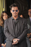Johnny Depp. LOS ANGELES, CA - JUNE 24, 2013: Johnny Depp on Hollywood Boulevard where Jerry Bruckheimer was honored with the 2,501st star on the Hollywood Walk Royalty Free Stock Photography