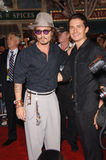 Johnny Depp,Orlando Bloom Stock Images