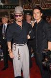 Johnny Depp,Orlando Bloom Stock Photography