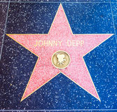 Johnny Depp star in Hollywood walk of fame Stock Photography