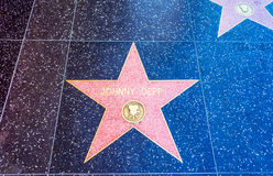Johnny Depp star in Hollywood walk of fame Stock Image