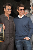 Johnny Depp & Tom Cruise Royalty Free Stock Photo