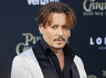 Johnny Depp. At the U.S. premiere of `Pirates Of The Caribbean: Dead Men Tell No Tales` held at the Dolby Theatre in Hollywood, USA on May 18, 2017 Royalty Free Stock Image