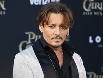 Johnny Depp. At the U.S. premiere of `Pirates Of The Caribbean: Dead Men Tell No Tales` held at the Dolby Theatre in Hollywood, USA on May 18, 2017 Royalty Free Stock Photos