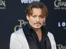 Johnny Depp. At the U.S. premiere of `Pirates Of The Caribbean: Dead Men Tell No Tales` held at the Dolby Theatre in Hollywood, USA on May 18, 2017 Royalty Free Stock Photo