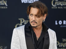 Johnny Depp. At the U.S. premiere of `Pirates Of The Caribbean: Dead Men Tell No Tales` held at the Dolby Theatre in Hollywood, USA on May 18, 2017 Stock Photo