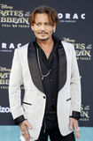 Johnny Depp. At the U.S. premiere of `Pirates Of The Caribbean: Dead Men Tell No Tales` held at the Dolby Theatre in Hollywood, USA on May 18, 2017 Stock Photography