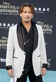 Johnny Depp. At the U.S. premiere of `Pirates Of The Caribbean: Dead Men Tell No Tales` held at the Dolby Theatre in Hollywood, USA on May 18, 2017 Stock Image
