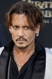 Johnny Depp. At the U.S. premiere of `Pirates Of The Caribbean: Dead Men Tell No Tales` held at the Dolby Theatre in Hollywood, USA on May 18, 2017 Royalty Free Stock Photography
