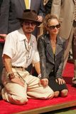 Johnny Depp, Vanessa Paradis Photographie stock