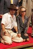Johnny Depp, Vanessa Paradis Stockfotografie