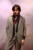Johnny Depp-wasstandbeeld royalty-vrije stock afbeeldingen