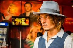 Johnny Depp Wax Figure arkivfoto