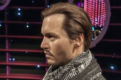Johnny Depp. Wax figure at Madame Tussauds Wien Austria Royalty Free Stock Images