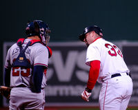 Johnny Estrada e Jason Varitek Imagem de Stock Royalty Free