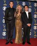 Johnny Galecki,Kaley Cuoco,Jim Parsons Stock Image