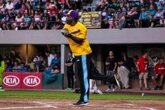 Johnny Gill at bat. Stock Image