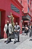 Johnny Gill. Leaving  Walk of Fame ceremony for Luther Stock Photo