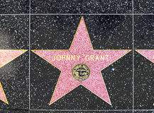 Johnny Grant's star on Hollywood Walk of Fame Stock Photo